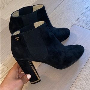 Chanel booties with box!